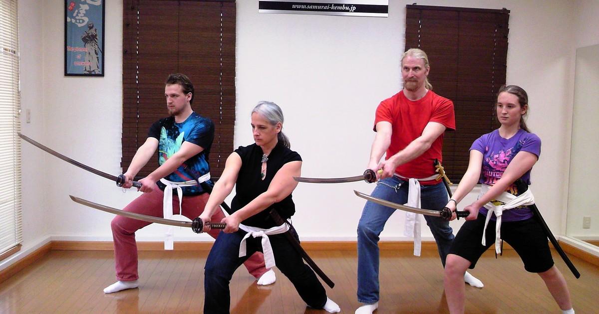 "Samurai Experience & Kembu Viewing at ""Samurai Kembu Theater"" in Kyoto *ALInoBABY"