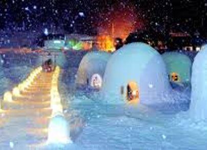 Noroshi Nabe Hot Pot Meal in a Snow Hut at Restaurant Kamakura in Liyama [From Nagano]