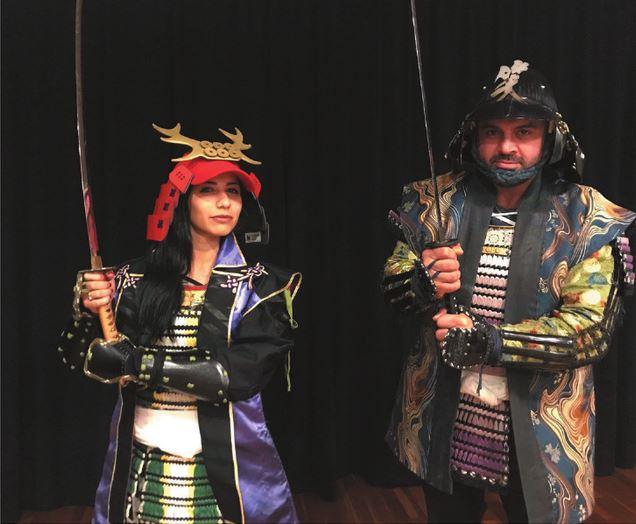 Armor Dress-up & Samurai Experience at Samurai Cafe in Osaka  *ALInoBABY