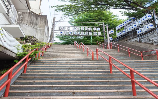 "The Real Life Location of the Anime ""Your Name"" ~ Stair Case *1shortTrip*.Tokyo"